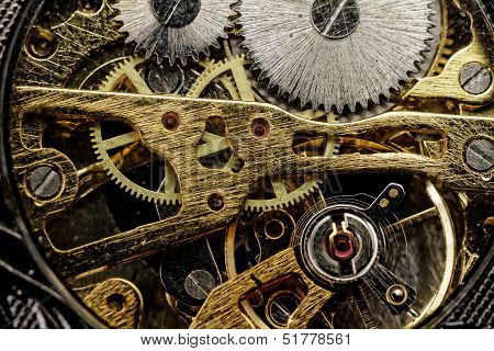 Watch Gears Very Close Up
