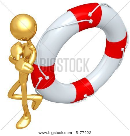Gold Guy With Life Preserver