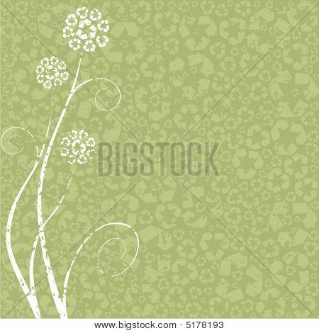 Light Green Recycling-flower Concept