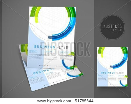 Professional business flyer template or corporate banner design, can be use for publishing, print and presentation.