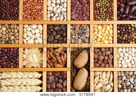 Spices And Seeds Background