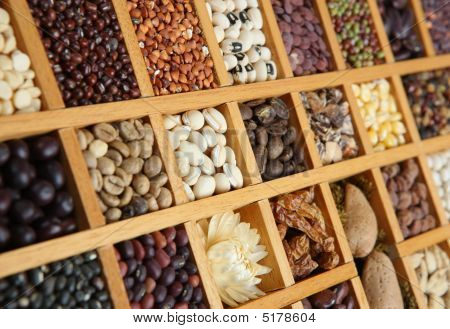Indian Spices, Beans And Seeds