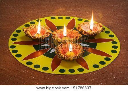 Diwali Decoration - Diya or Decorative candle
