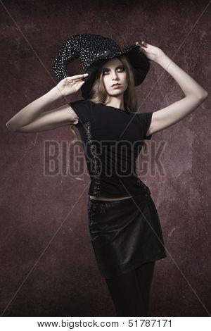 Halloween Portrait Of Sexy Witch