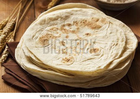 Stack Of Homemade Flour Tortillas