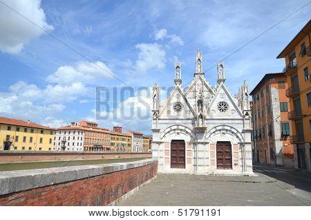 Church of Santa Maria della Spina in Pisa, Tuscany in Italy