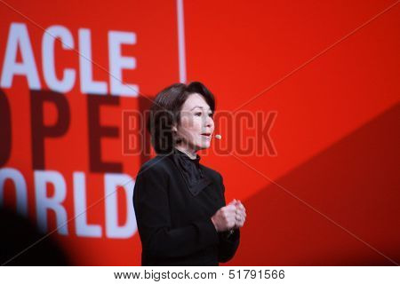 San Francisco, Ca, Sept 24, 2013 - Oracle President And Cfo Safra Catz Makes Speech At Oracle Openwo