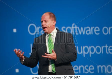 San Francisco, Ca, Sept 24, 2013 - Microsoft Vice President Brad Anderson Makes Speech At Oracle Ope