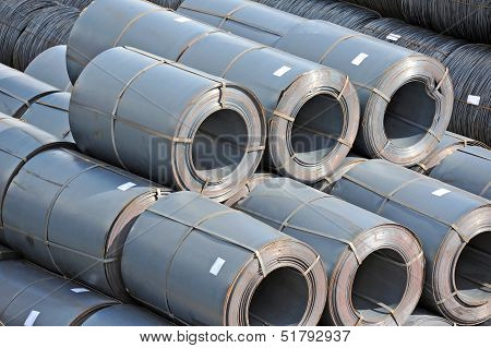 Steel metal-roll