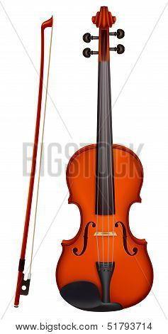 Violin With The Fiddlestick Light