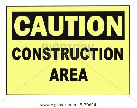 Caution Construction Warning Sign