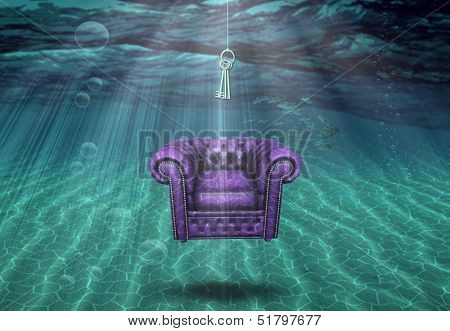 Surreal underwater scene