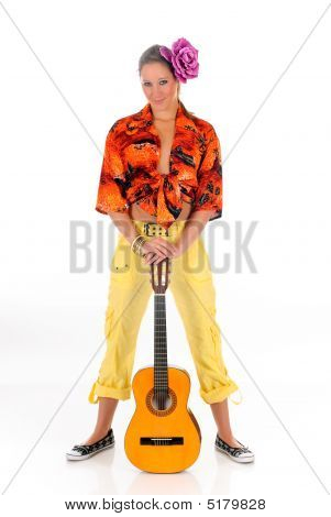 Woman Summer Clothing Guitar