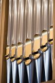 image of pipe organ  - Details form A historic pipe organ in church - JPG