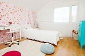 Beautifully decorated little girl room interior
