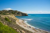 stock photo of costa blanca  - One of the many secluded beaches on Costa Blanca Spain - JPG