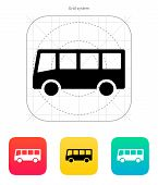 stock photo of bus driver  - Bus icon - JPG