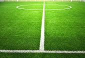 picture of grass area  - soccer field with green grass - JPG