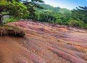 stock photo of chamarel  - Main sight of Mauritius - JPG