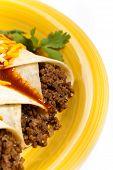 foto of enchiladas  - A traditional Mexican food - JPG