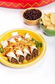 stock photo of enchiladas  - A traditional Mexican food - JPG