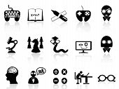 stock photo of dork  - a set of black icon symbolizes nerds - JPG