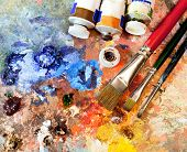 stock photo of pigments  - Artistic equipment - JPG