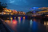 SINGAPORE - SEPTEMBER 16: Clarke Quay is a historical riverside quay in Singapore, by the Singapore