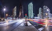 The financial district of Berlin, Germany known as Potsdamer Platz. poster