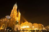 KRAKOW, POLAND - SEP 27: St. Mary's Church in historical center of Krakow, September 27, 2013 in Kra
