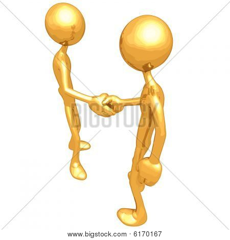 Gold Guy Handshake