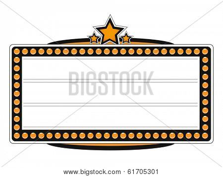 Blank Cinema Billboard Design. (EPS vector version also available in portfolio)