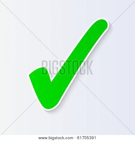 Check mark illustration isolated. (EPS vector version also available in portfolio)