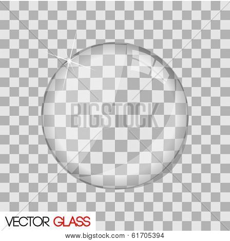 Glass lens illustration. (EPS vector version also available in portfolio)
