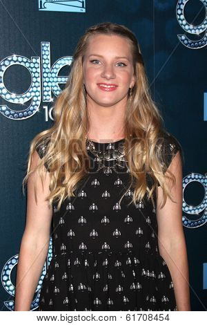 LOS ANGELES - MAR 18:  Heather Morris at the GLEE 100th Episode Party at Chateau Marmont on March 18, 2014 in West Hollywood, CA