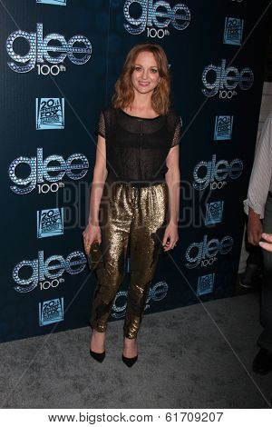 LOS ANGELES - MAR 18:  Jayma Mays at the GLEE 100th Episode Party at Chateau Marmont on March 18, 2014 in West Hollywood, CA