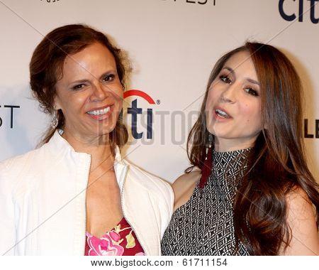 LOS ANGELES - MAR 16:  Deborah Pratt, Troian Bellisario at the PaleyFEST -