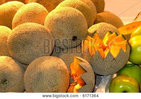 Cantaloup, Melon am Bauernmarkt