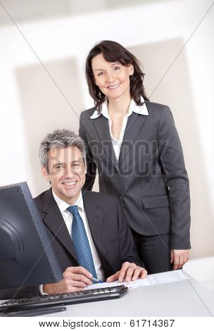 Manager Overseeing Businessman