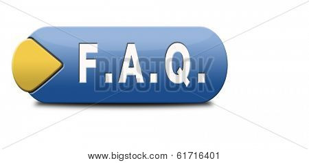 faq frequently asked questions and answers search and find information question and answer button or icon