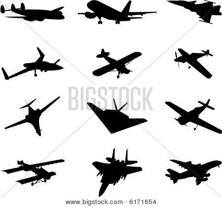 vector airplane silhouette