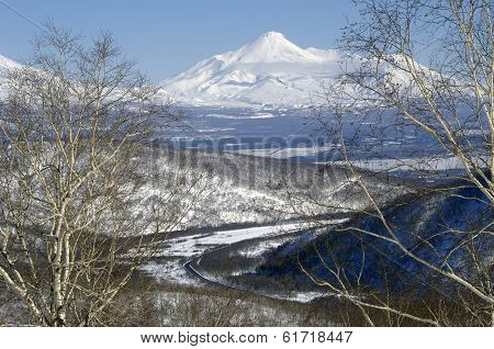 Avacha Volcano Of Kamchatka Peninsula.