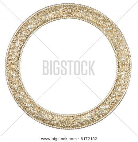 Marco de círculo aislado