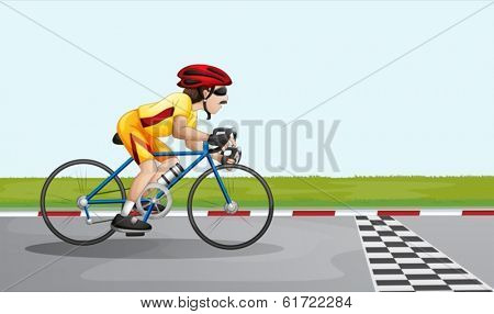Illustration of a man joining a race