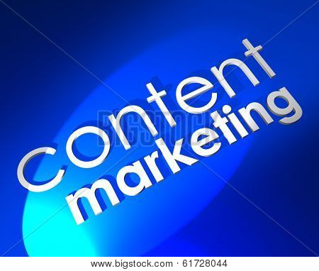 Content Marketing 3d Words Digital Business Communication