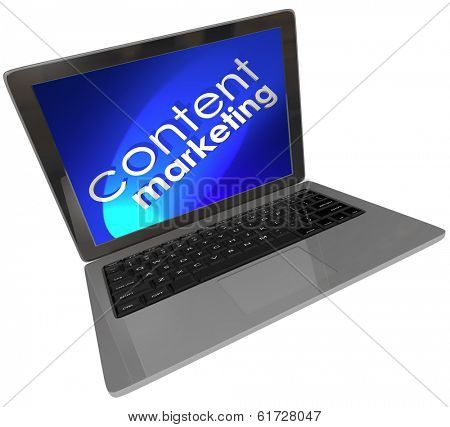 Content Marketing Computer Laptop Online Digital Communication