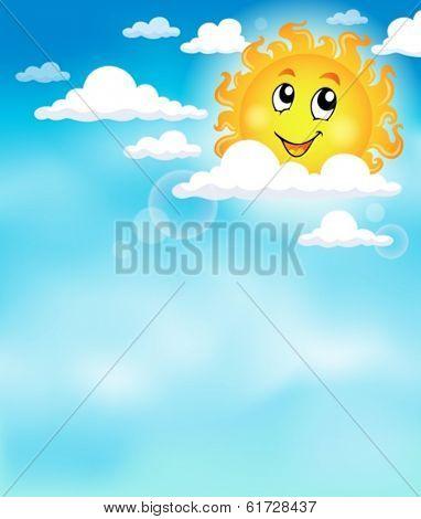 Sun on sky theme image 2 - eps10 vector illustration.