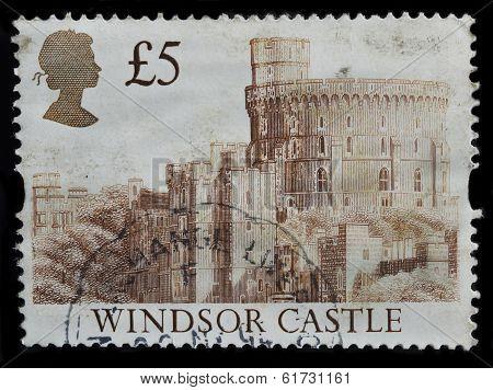 United Kingdom Postage Stamp, Castle