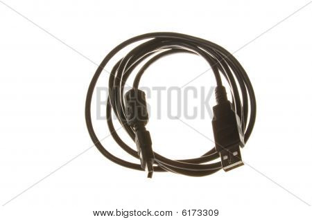 USB cable isolated on white background