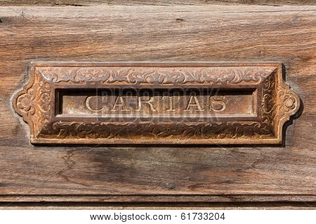 Letterbox Slot In The House Antigua Guatemala